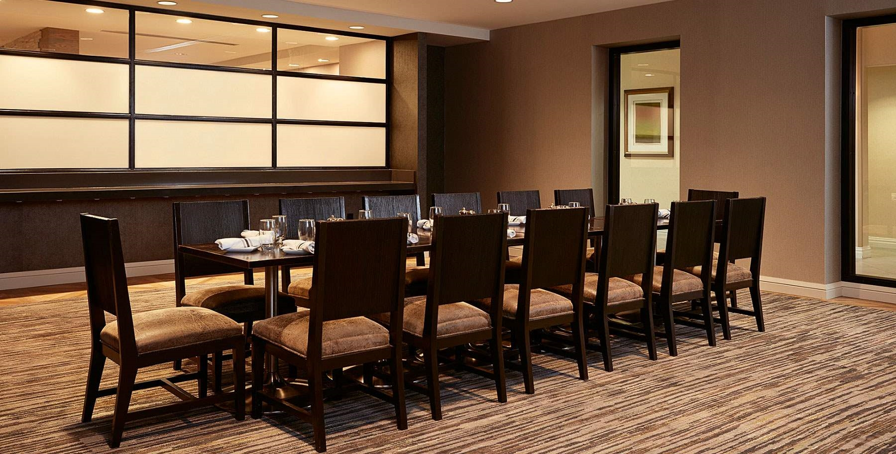 Private dining room at Coopers Mill