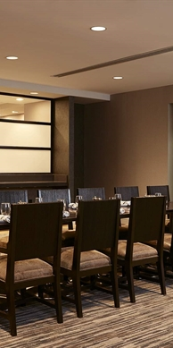 Private dining table seating 14